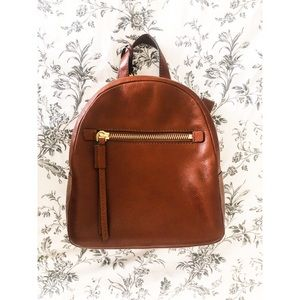 Fossil Women's Megan Leather Backpack Purse Brown